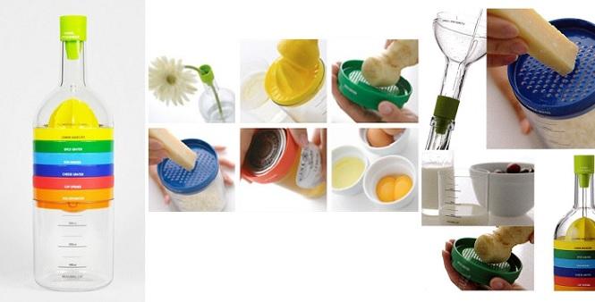 Πολυεργαλείο κουζίνας με 8 διαφορετικά εξαρτήματα σε σχήμα μπουκάλι! - TV οργάνωση κουζίνας   εργαλεία κουζίνας