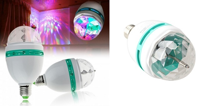 Περιστρεφόμενη Λάμπα RGB LED Full Color! - TV σπίτι   ηλεκτρολογικός εξοπλισμός