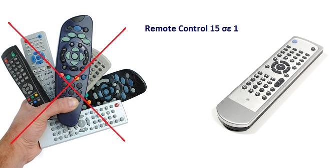 Remote Control Τηλεχειριστήριο 15 σε 1 URC22B-15 - TV gadgets   gadgets