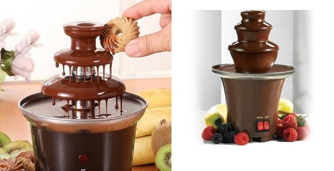 Συσκευή Συντριβάνι για Fondue Σοκολάτας - Mini Fondue Chocolate Fountain - TV μικροσυσκευές   βάφλες  κρέπες  μπισκότα  κέικ