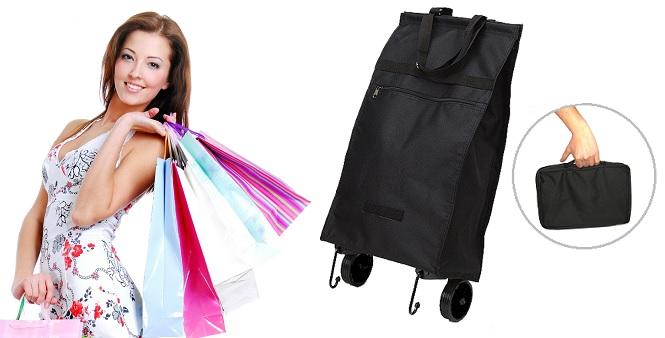 Πτυσσόμενη Τσάντα με Ροδάκια για τα Ψώνια Easy Roller Bag! - OEM οικιακά είδη   διάφορα είδη για το σπίτι