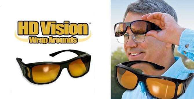 HD Vision WrapArrounds Γυαλιά ηλίου με μαύρο φακό 100% UV Προστασία - TV gadgets   gadgets