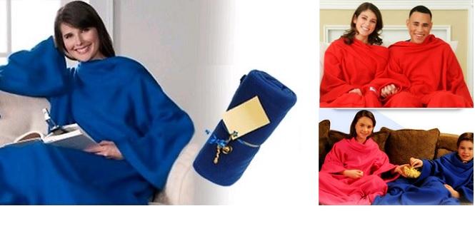 Κουβέρτα με Μανίκια Super Soft Fleece Χρώμα Κόκκινο - TV οικιακά είδη   διάφορα είδη για το σπίτι