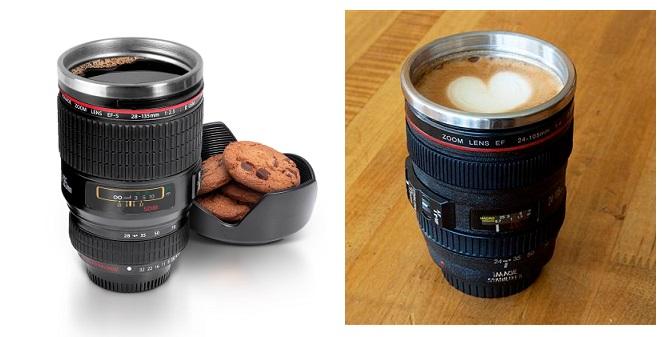 Κούπα σε Σχήμα Φακού Φωτογραφικής Μηχανής με Ανοξείδωτο εσωτερικό και καπάκι, γι σερβίρισμα   κούπες και ποτήρια