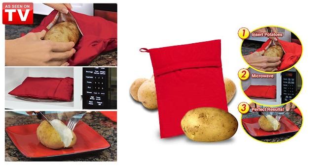 Θήκη μαγειρέματος Πατάτας σε φούρνο μικροκυμάτων - TV για την κουζίνα   διάφορα κουζίνας