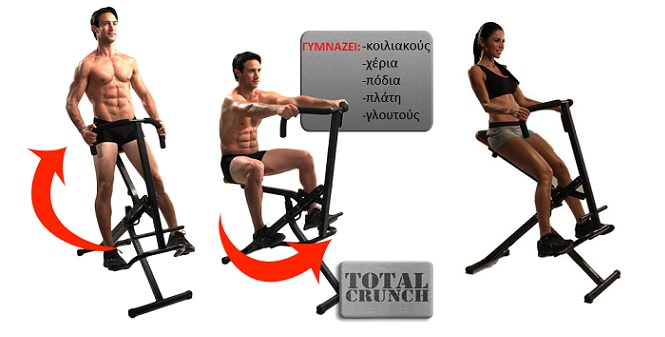 TOTAL CRUNCH! Tο Ολοκληρωμένο Όργανο γυμναστικής που γυμνάζει όλο το σώμα ταυτόχ γυμναστική  και  fitness   πολυόργανα