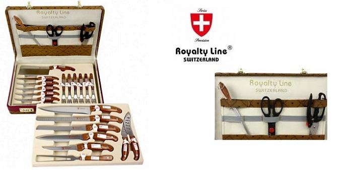 Royalty Line RL-25LB Κασετίνα με 24 τμχ. Μαχαίρια από ανοξείδωτο ατσάλι - Royalt σερβίρισμα   μαχαιροπίρουνα