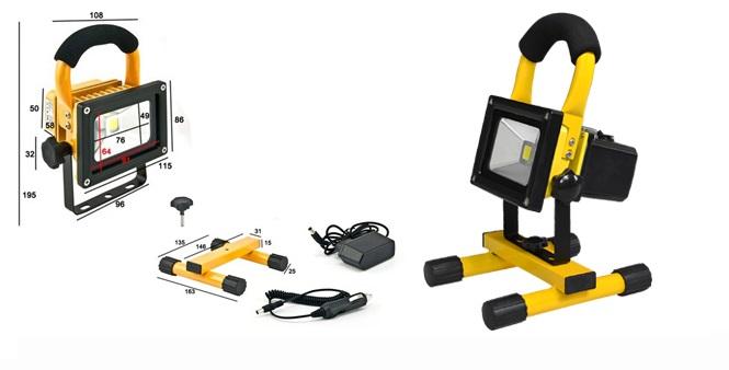 Ισχυρός Επαναφορτιζόμενος Φορητός Προβολέας LED 10W! - OEM σπίτι   ηλεκτρολογικός εξοπλισμός