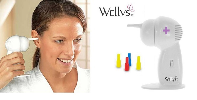 Συσκευή καθαρισμού αυτιών για ανώδυνη και ασφαλή αφαίρεση του κεριού, Wellys 013 υγεία  και  ομορφιά   διάφορα