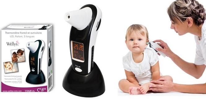 Ψηφιακό Θερμόμετρο wellys υψηλής τεχνολογίας με φωνητική λειτουργία, μεγάλη φωτι μωρά και παιδιά   παιδική ασφάλεια και υγεία στο σπίτι