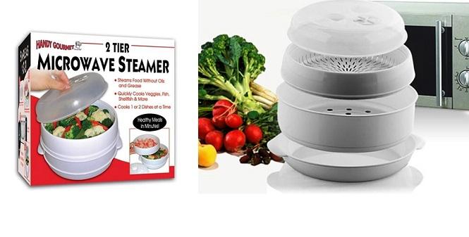 """Υγιεινό μαγείρεμα στον ατμό! Ατμομάγειρας φούρνου μικροκυμάτων """" Microwave Food  για την κουζίνα   συσκευές υγιεινής μαγειρικής"""