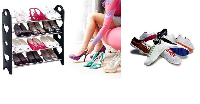 Παπουτσοθήκη με 4 ράφια για 12 ζευγάρια παπούτσια! – TV