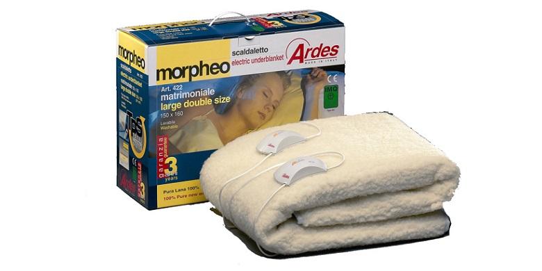 Ηλεκτρική Κουβέρτα Διπλή 100% Μάλλινη Ardes Morpheo 422! - Ardes λευκά είδη   χαλιά και κουβέρτες