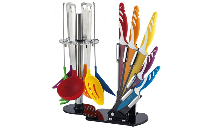Διπλό Σετ Κουζίνας Royalty Line, με Μαχαίρια, Κουτάλες & Σπάτουλες Rl-KT12 - Roy αξεσουάρ μαγειρικής   μαχαίρια κουζίνας