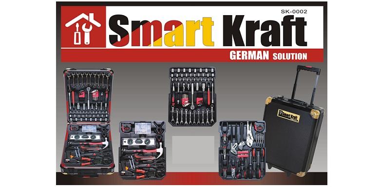 Εργαλειοθήκη βαλίτσα SMART KRAFT SK-0002 , HAND TOOL SET TITANIUM με 199 τμχ! -  σπίτι   εργαλεία