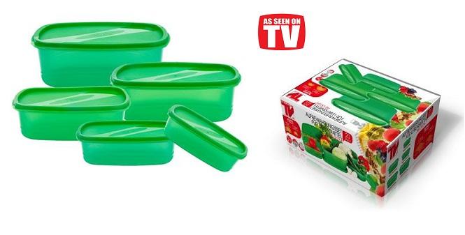 Σετ Φαγητοδοχεία 10 τμχ & Δώρο 10 τμχ Σακούλες Αποθήκευσης Τροφίμων AS-0034 - TV για την κουζίνα   διάφορα κουζίνας