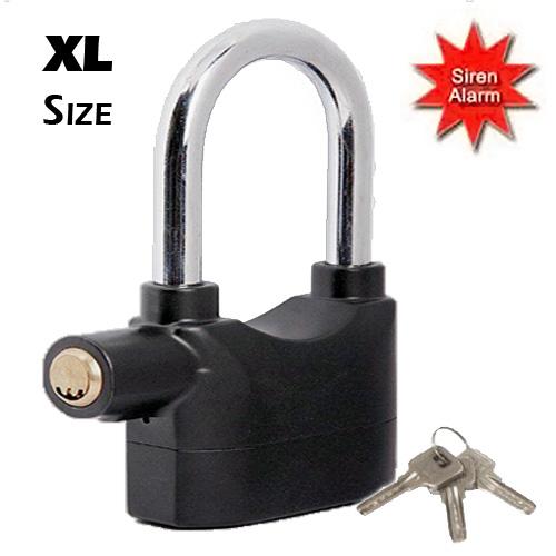 Λουκέτο Ασφαλείας XL με Συναγερμό 110dB και Αισθητήρα Κραδασμών - Padlock Securi αυτοματισμοί και ασφάλεια   συναγερμοί και ανιχνευτές
