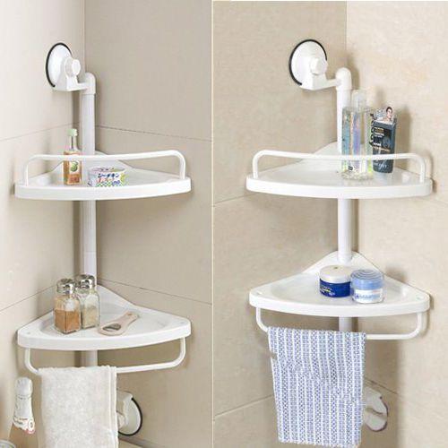 Γωνιακή Διπλή Ραφιέρα Κουζίνας / Μπάνιου - Cb μπάνιο   έπιπλα μπάνιου