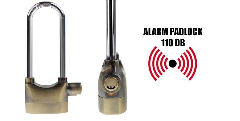 Λουκέτο Βαρέως Τύπου με Συναγερμό 110db Alarm Padlock! - Alarm Padlock αυτοματισμοί και ασφάλεια   συναγερμοί και ανιχνευτές