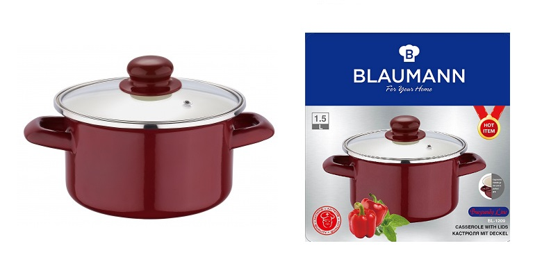 BLAUMANN BL-1209 Κατσαρόλα 16cm με καπάκι - Blaumann μαγειρικά σκεύη   κατσαρόλες
