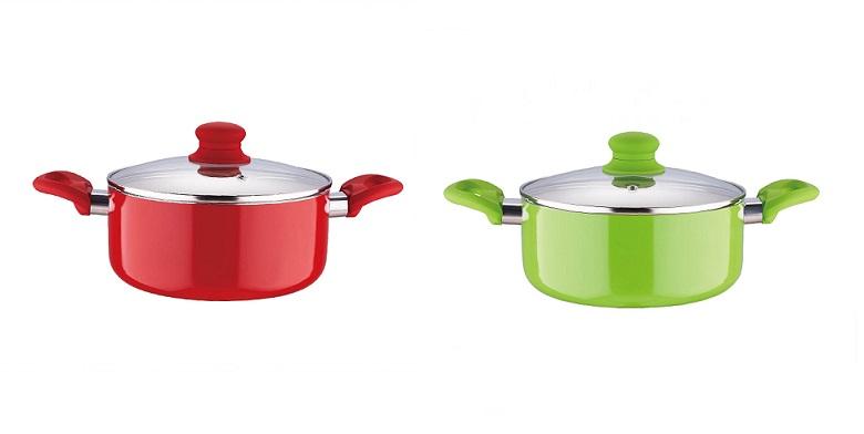 BLAUMANN BL-1260 Κατσαρόλα 24cm με Γυάλινο καπάκι Χρώμα Μπορντό - Blaumann μαγειρικά σκεύη   κατσαρόλες