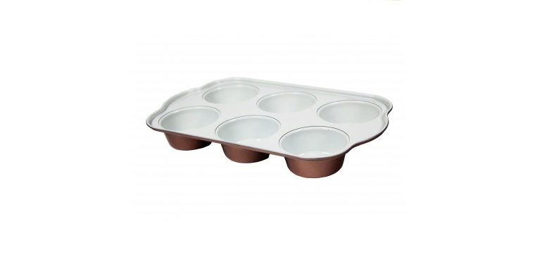Blaumann BL-1614 Φόρμα 6 θέσεων για muffin με κεραμική επίστρωση Copper Line - B μαγειρικά σκεύη   φόρμες ψησίματος   γάστρες για φούρνο