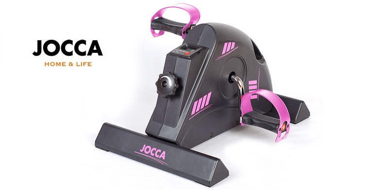 Jocca Στατικό ποδήλατο γυμναστικής, Black & Pink Mini Exercise Bike σε Μαύρο Ροζ γυμναστική  και  fitness   καθιστά ποδήλατα
