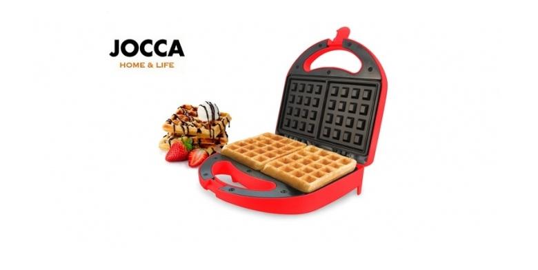 Jocca 5307 Συσκευη παρασκευής φάφλας-Βαφλιέρα 700W με 2 Βαθιές αντικολλητικές πλ μικροσυσκευές   βάφλες  κρέπες  μπισκότα  κέικ