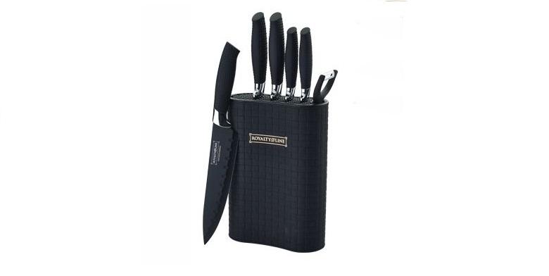 Royalty Line RL-6MSTK Σετ 7τμχ Αντικολλητικά Αντιβακτηριδιακά Ελβετικά Μαχαίρια  αξεσουάρ και εργαλεία κουζίνας   μαχαίρια κουζίνας