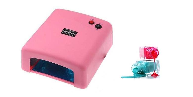 Επαγγελματικό Φουρνάκι Νυχιών σε ρόζ χρώμα με 4 Λάμπες UV! 24654 - TV