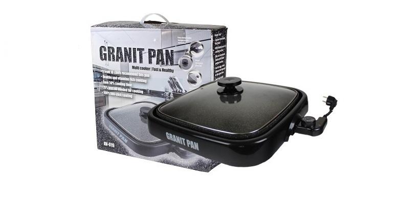 Granit Pan AV-019 1300W με αντικολλητική επίστρωση marble! - GRANIT PAN σκεύη μαγειρικής   γκριλιέρες ψηστιέρες