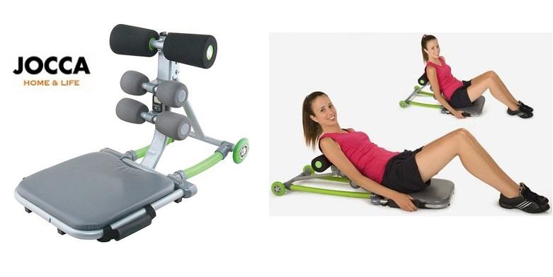 Jocca 6134 Πάγκος Κοιλιακών 77.5x40x48 cm σε Ασημί/Πράσινο χρώμα - JOCCA home &  γυμναστική  και  fitness   όργανα κοιλιακών   aerobic