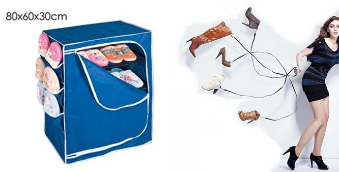 Πρακτική και Φορητή Υφασμάτινη Ραφιέρα - Παπουτσοθήκη με πλαϊνές θήκες! - TV οικιακά είδη   διάφορα είδη για το σπίτι