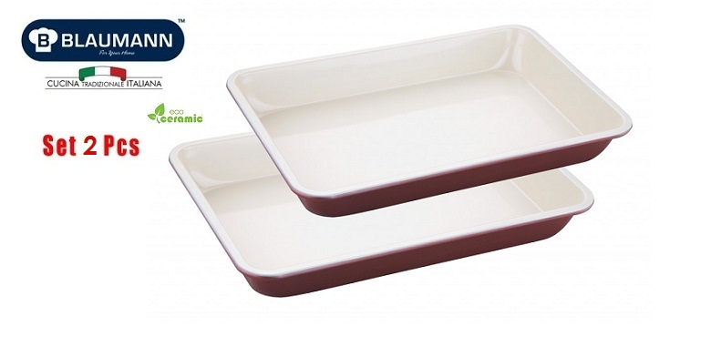 Blaumann BL-1161 Σετ με 2 Ταψιά με BIO Anti-Bacterial Κεραμική Επίστρωση - Blaum σκεύη μαγειρικής   σετ μαγειρικών σκευών