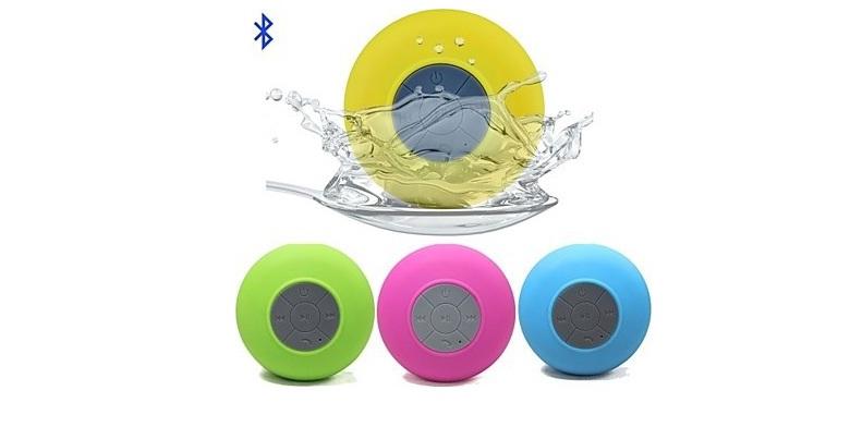 Αδιάβροχο Bluetooth Ηχείο Βεντούζα! Χρώμα Κίτρινο - TV ήχος   bluetooth και μικρά ηχεία