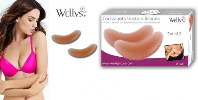 Πρόσθετα Επιθέματα Σιλικόνης για το στήθος Σετ 2 τμχ, Wellys 041502 - Wellys υγεία  και  ομορφιά   αισθησιακά προιόντα  και  δώρα