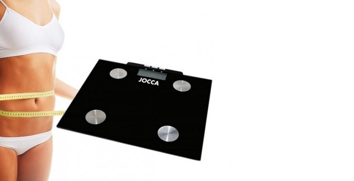 Jocca 7148 Ψηφιακή Ζυγαριά Λιπομετρητής Μπάνιου σε Μαύρο χρώμα - JOCCA home & li για το μπάνιο   ζυγαριές μπάνιου