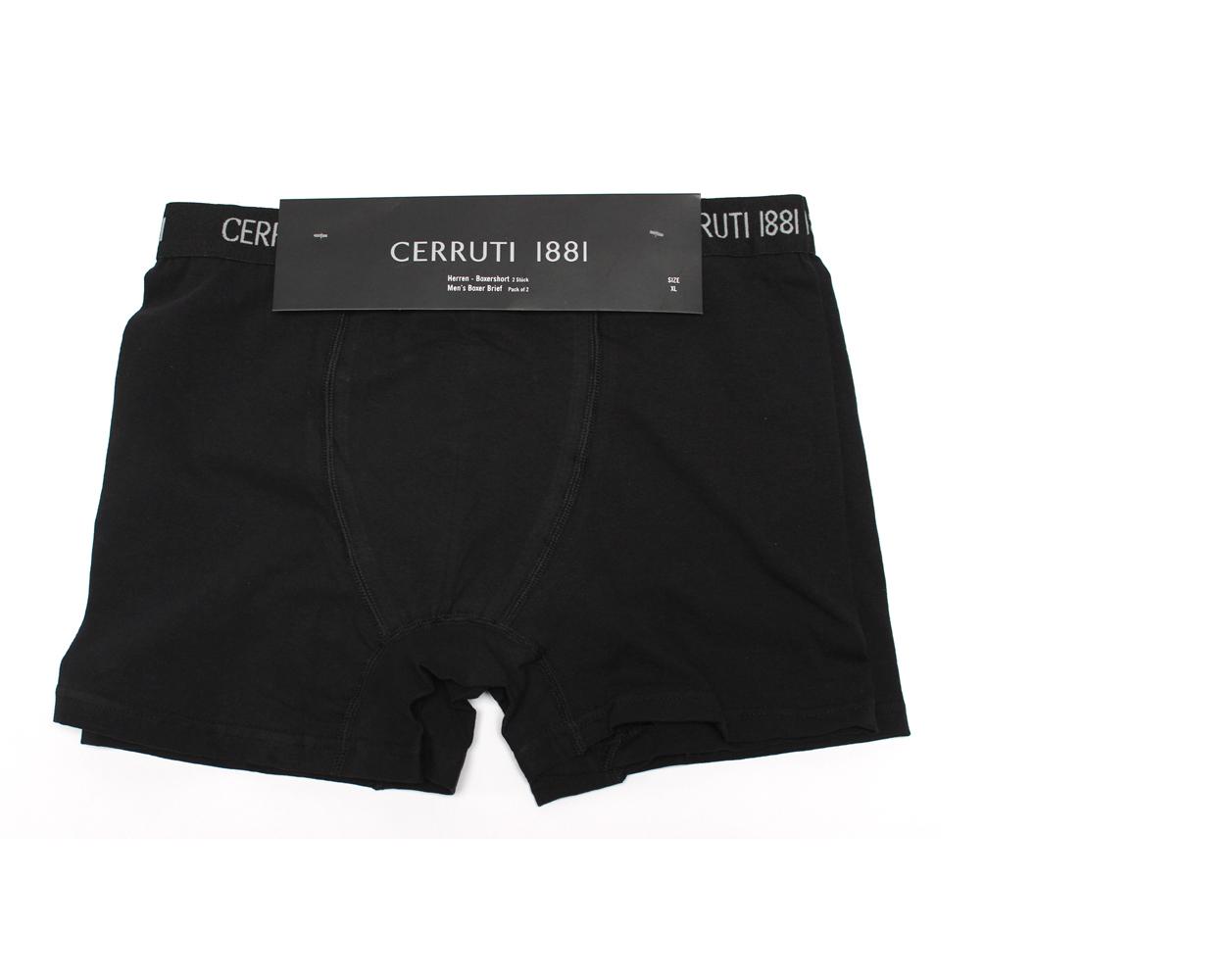 Ανδρικά Boxers Cerruti 1881 σε Μαύρο Χρώμα σετ 2 τεμαχίων  00004552