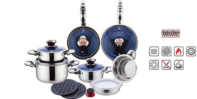 Σετ Μαγειρικά Σκεύη Imperial Collection IM1602BG 16 τμχ  Από ανοξείδωτο ατσάλι  για την κουζίνα  μαγειρικά σκέυη