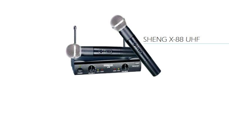 Studio Quality με 2 Ασύρματα Μικρόφωνα για Karaoke Καραόκε, SHENG X-88 UHF! - SH εκδηλώσεις και γιορτές   καραόκε