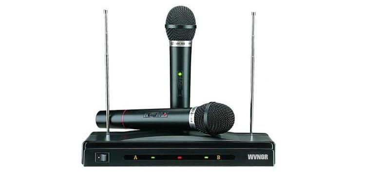 Συσκευή με 2 ασύρματα μικρόφωνα για Karaoke Καραόκε, WVNGR HSTAR C-05A - WVNGR εκδηλώσεις και γιορτές   καραόκε