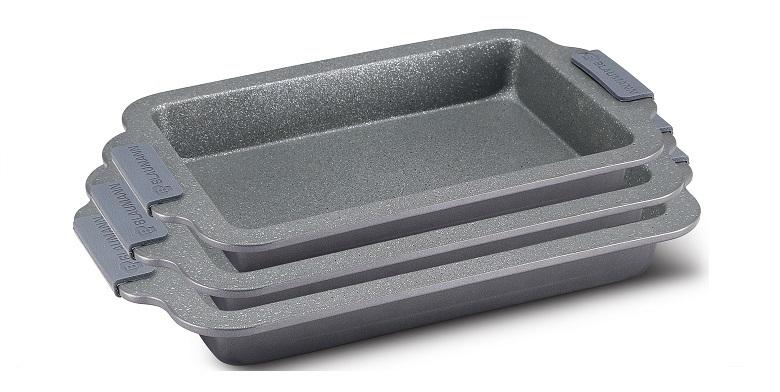 BLAUMANN BL-1626 Σετ Ταψιά 3 τεμαχίων Grey Granit Line - Blaumann σκεύη μαγειρικής   σετ μαγειρικών σκευών