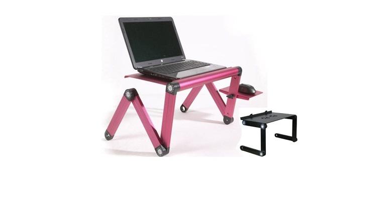 Πτυσσόμενο Τραπεζάκι Laptop Cooler με Βάση Mouse & 2 Ανεμιστήρες - Smart Foldabl περιφερειακά και αναλώσιμα   αξεσουάρ υπολογιστών