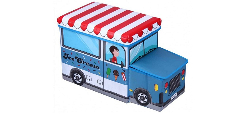 Κουτί Αποθήκευσης παιχνιδιών- Παιδικό Σκαμπό κάθισμα Ice Cream Car παγωτατζίδικο παιχνίδια  παιδί  και  βρέφος   έξυπνα   εκπαιδευτικά παιχνίδια