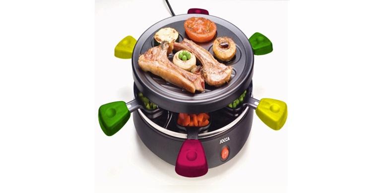 Raclette Γκριλιερα 800W με Αντικολλητική πλάκα γκριλ & 6 αντικολλητικά μικρά τηγάνια, Jocca 5447F – JOCCA home & life