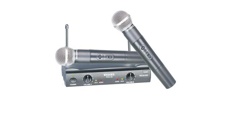 Studio Quality με 2 Ασύρματα Μικρόφωνα για Karaoke Καραόκε WEISRE PGX-58 UHF - W εκδηλώσεις και γιορτές   καραόκε
