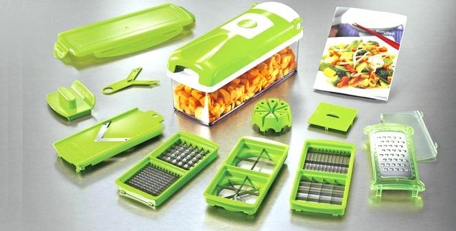 Εξυπνος Πολυκόφτης Λαχανικών και φρούτων (σετ 14 τεμαχίων)! - TV για την κουζίνα   κουζινομηχανές πολυκόφτες