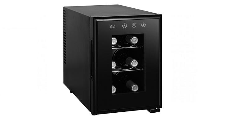 Ψυγείο Συντηρητής Κρασιών 6 φιαλών, LED οθόνη, πλήκτρα αφής, εσωτερικό φωτισμό,  μικροσυσκευές   ψυγεία συντηρητές κρασιών