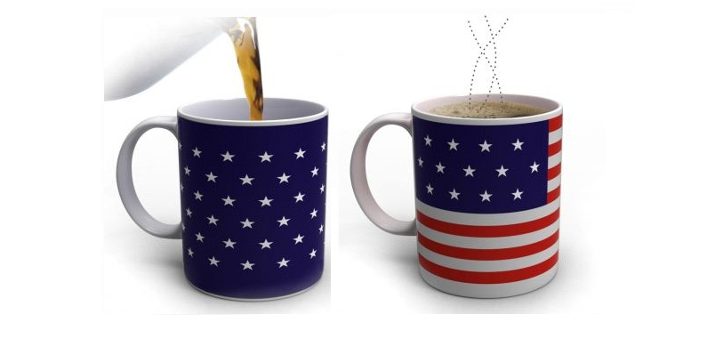 Κούπα που αλλάζει χρώμα με τη θερμοκρασία - Αμερικάνικη Σημαία! - TV gadgets   gadgets