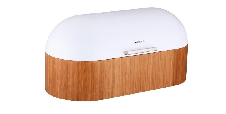 Herzog HR-BB2 Premium Ψωμιέρα Μπαμπού (Bamboo) Bread box 43x21x19cm - HERZOG οργάνωση κουζίνας   ψωμιέρες